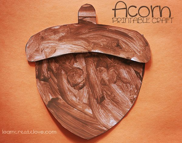 Acorn imprimable Artisanat