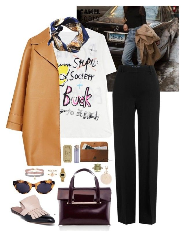 """Camel Coat"" by gabychinchilla ❤ liked on Polyvore featuring Vanessa Bruno, Marni, Rochas, Delpozo, American Apparel, Miss Selfridge, Casio, Armitage Avenue, Accessorize and camelcoat"
