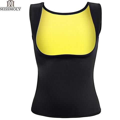 7889a189aa Miss Moly Hot Shapers Sauna Sweat Neoprene Body Shaper Women Slimming  Thermo Push Up Vest Waist Trainer Cincher Corset  USPS