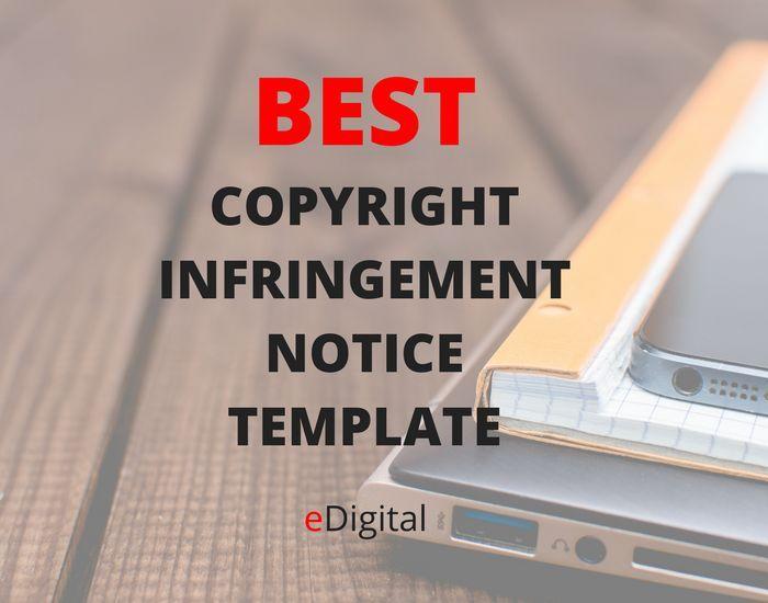 Best Copyright Infringement Template Digital Marketing Content
