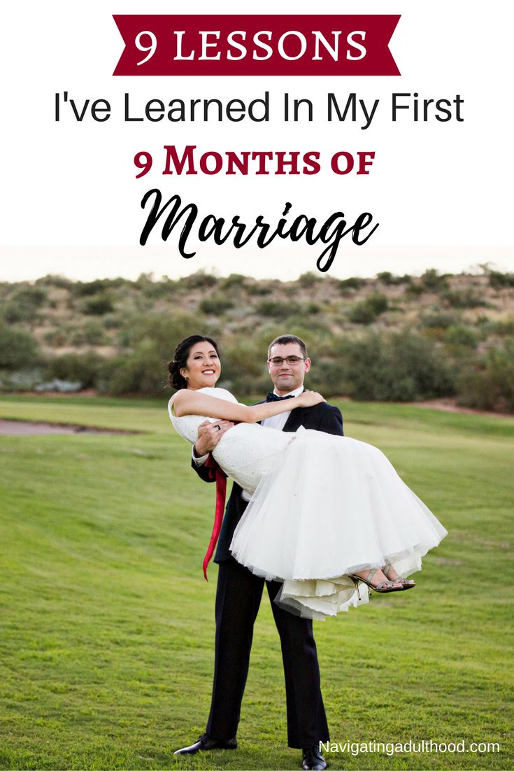 Here are the 9 lessons I've learned in my first 9 months of marriage l Millennial relationships l Click through to read more.