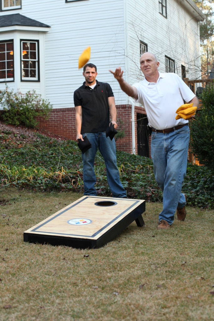 Corn hole game turorial!  Cool guy gift!