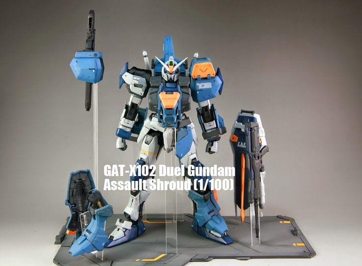 MG 1/100 Duel Gundam Assaultshroud Custom Build - Gundam ...