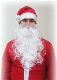 Noel Baba Şapkası, Kadife ostüm Aksesuarları - Parti Şapkaları Kıyafetle birlikte satılmaz; resim örnektir. Şapka yükseklik 41 cm, çap 29 cm
