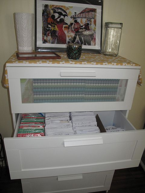 My sewing pattern storage: Ikea brimnes dresser by sharrn04, via Flickr