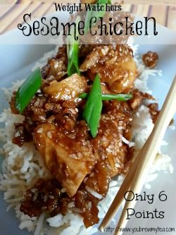 Weight Watchers Sesame Chicken Recipe | You Brew My Tea