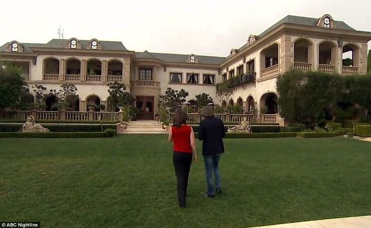 A grand home: Hadid himself lives in this 50,000-square-foot mansion (pictured) in Beverly...
