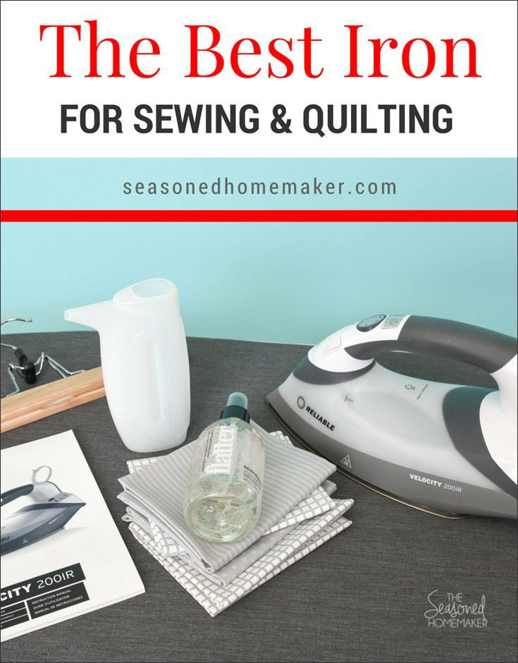 Finding the best iron for sewing and quilting can be a challenge. The iron needs to be durable, get hot and stay hot, and not spit water all over a project. I believe I've found the perfect iron for all of your sewing and quilting projects. #bestiron #quilteriron #ironforsewing