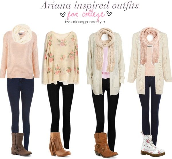 Ariana Grande inspired winter outfits :D So cute and shows how easy it is to - 1530 Best Fall / Winter Fashion Ideas Images On Pinterest Style