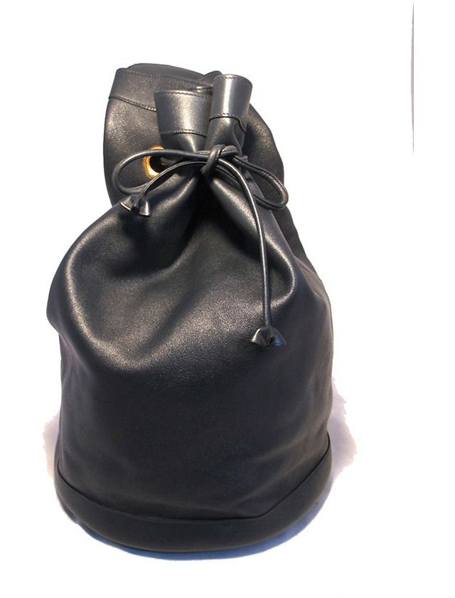RARE Hermes Navy Blue Leather Travel Shoulder Bag/sling