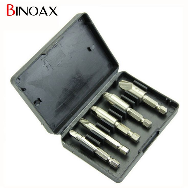 """$4.57 (Buy here: https://alitems.com/g/1e8d114494ebda23ff8b16525dc3e8/?i=5&ulp=https%3A%2F%2Fwww.aliexpress.com%2Fitem%2F5pc-1-4-Nickel-Ptd-HSS-Broken-Rusted-Stripped-Screw-and-Bolt-Remover-Extractor%2F32610113420.html ) Binoax 5pc 1/4"""" Nickel Ptd HSS Broken, Rusted, Stripped Screw and Bolt Remover Extractor #P00043# for just $4.57"""