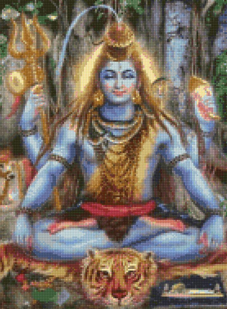 Shiva Hindu God Cross Stitch pattern - PDF - Instant Download! by PenumbraCharts on Etsy