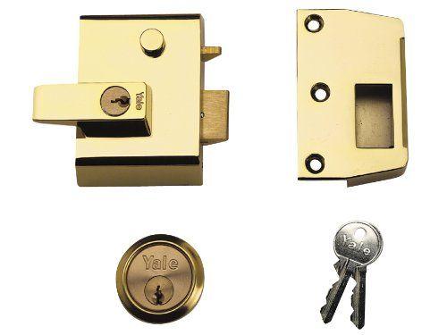 From 54.95 Yale Locks P2 Double Security Nightlatch Brasslux Finish 40 Mm Backset Visi Pack