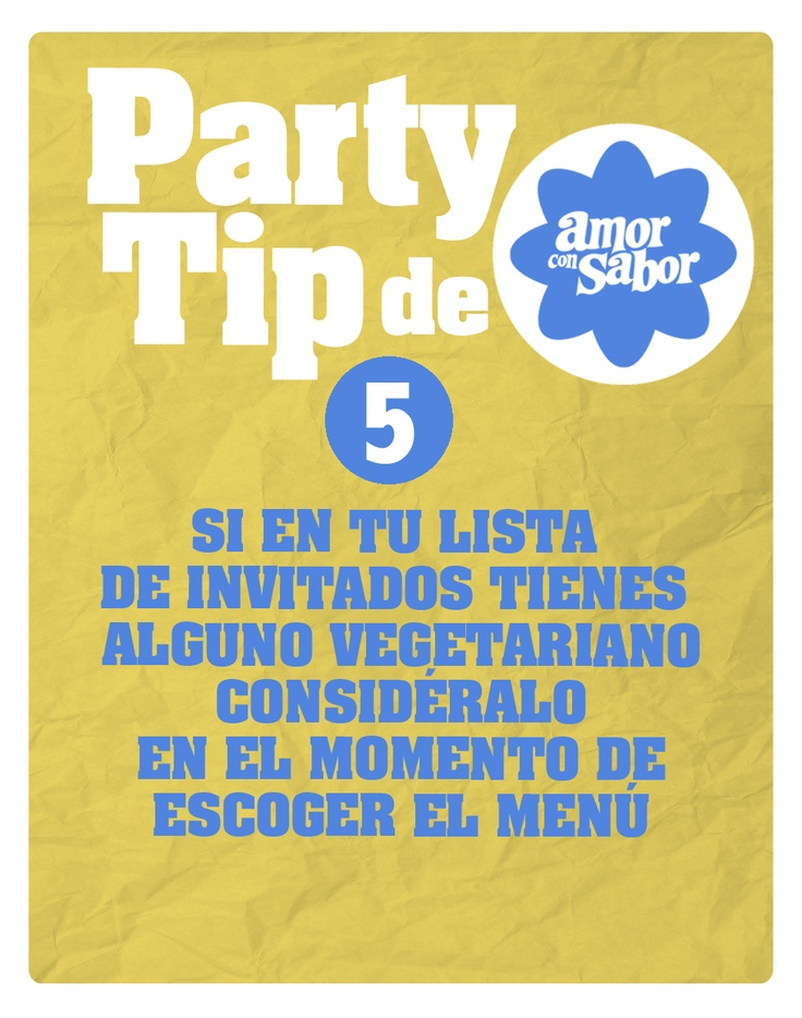 Party tip 5. De la comida de la fiesta.