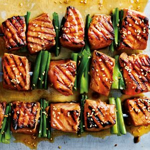 Fend off winter illness with this cold-busting wasabi salmon skewers recipe