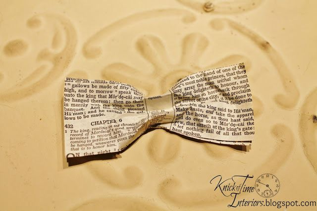 Book Page Bows - I'm Bowing Out...