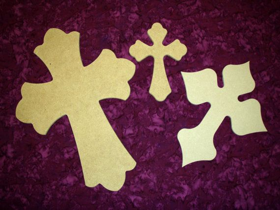 Unfinished Wood Layered Wooden Cross by ArtisticCraftSupply