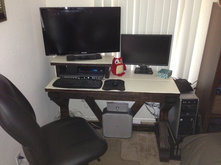 This is my homemade computer desk | My Woodworking projects