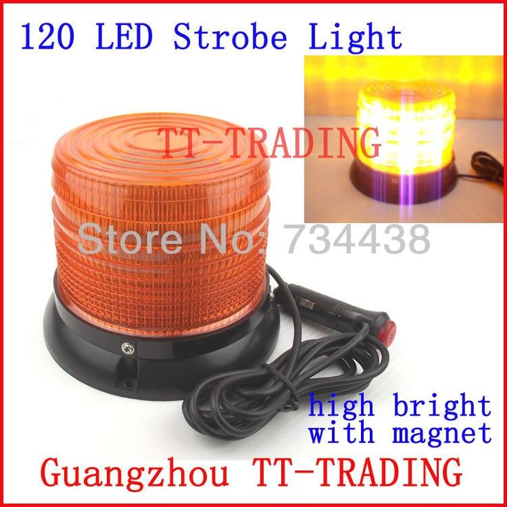 65.00$  Watch now - http://ali8lw.worldwells.pw/go.php?t=1543675763 - Eemgency light 120 LED strobe lights  Warning lights for truck led strobe beacon with magnet Amber DC12V 65.00$