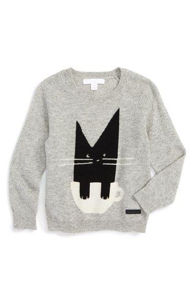 Burberry 'Cat' Cashmere Sweater (Toddler Girls, Little Girls & Big Girls)