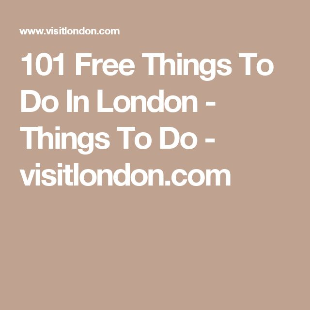 101 Free Things To Do In London - Things To Do - visitlondon.com