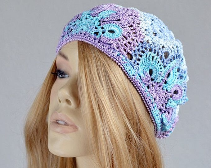 Bonnet en crochet Womens dentelle au Crochet Bonnet au Crochet