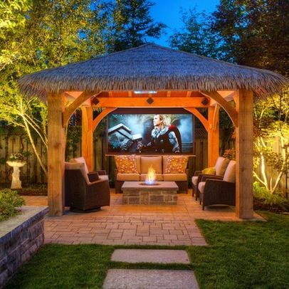 66 best images about patio covers on pinterest tins covered pergola patio and patio - Tropical outdoor kitchen designs ...