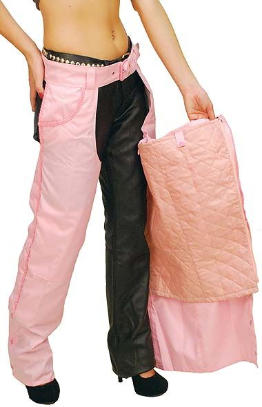 Pink Pocket Chaps With Zip Out Lining