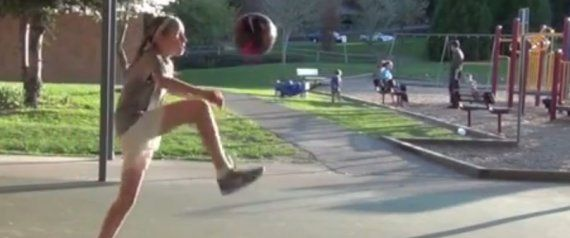 12-Year-Old Girl's Soccer Ball Juggling Puts David Beckham To Shame