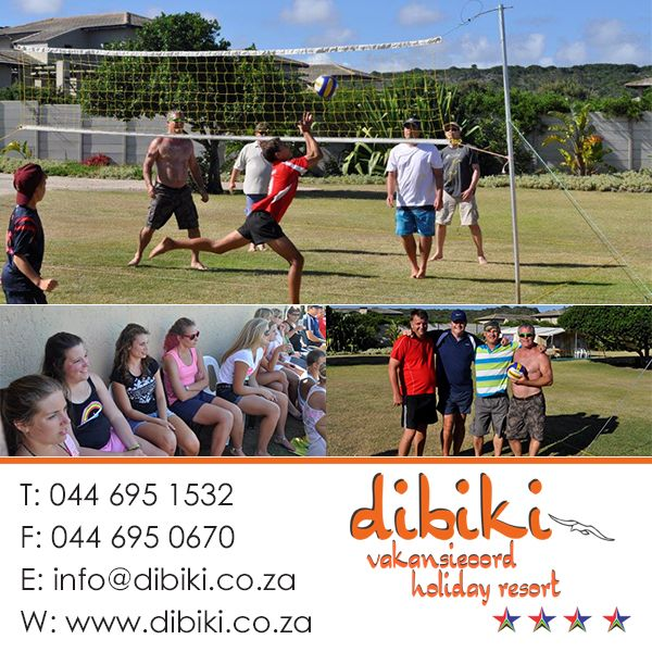 Dibiki December Activities What is a beach holiday without a volleyball (volley ball) game! The crowd was encouraged, and the senior men, Nico, Peter, John and Dennis's technique and plans made them the winning team. #holiday, #activities, #hartenbos