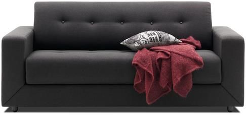 Stockholm sofa bed, the product is available in fabrics and leathers.