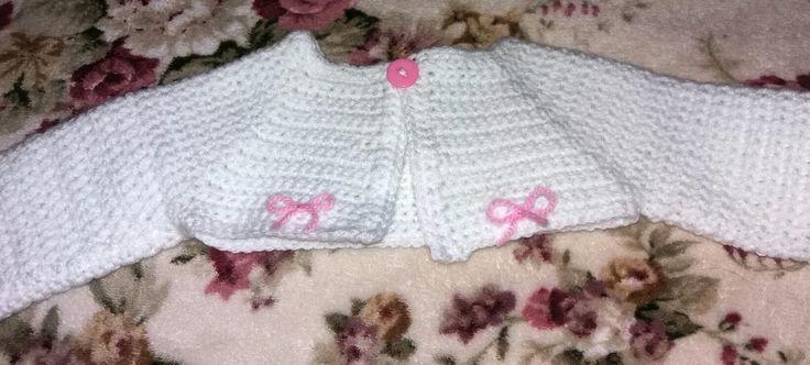 Crochet newborn bolero