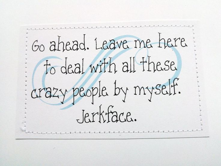 Funny handmade goodbye card. Go ahead. Leave me here by sewdandee, $6.00
