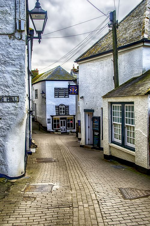 """~Fore Street Port Isaac, Cornwall~This is the character """"Doc Martin's"""" town in England, UK."""