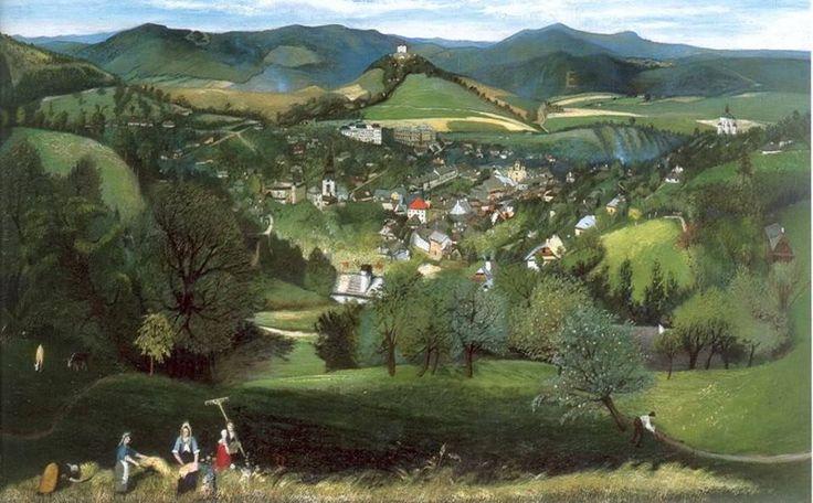 Csontváry Kosztka Tivadar (1853-1919) - A felvidéki Semecbánya látképe