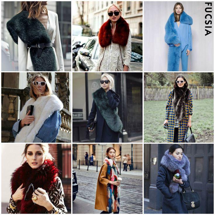 #Tendencia2017  ¡Winter is coming! Las influencers e it girls retomaron las estolas o cuellos fur para combinar cada uno de sus looks. ¿Te gustan?