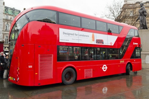 London's new bus....cool, but I adore the classic double decker