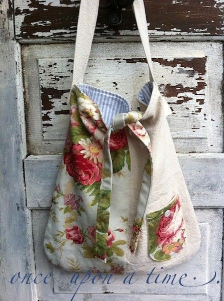 Small Cotton Tote Blooming Bright Colors Flowers by CamillaCotton, $46.00
