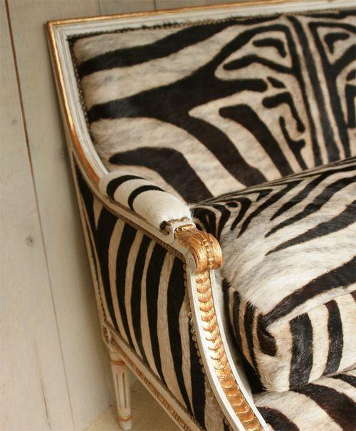 """zebra settee.......screaming """"I Love You""""!!!!!!"""