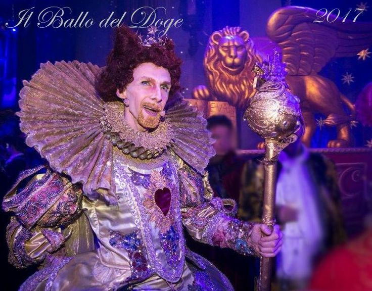 Ballo del Doge 2017 - Venice Carnival behind closed doors. Chris Channing actor - Antonia Sautter design/event.