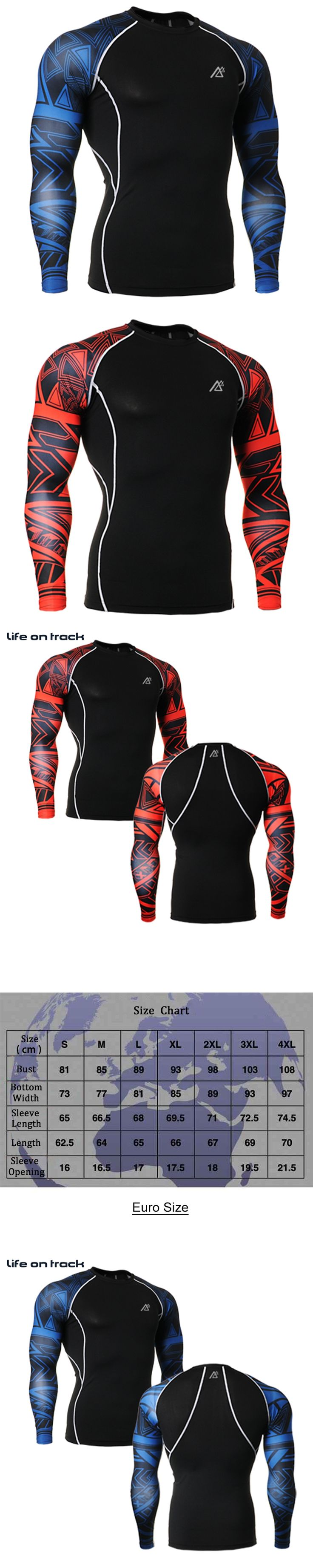 2016 Sports Athletic Build Men's T-shirt Tight-Fitting Bodybuilding Plus Size Stretch Anti-Sweat Long Sleeve Tshirts Hot Sale