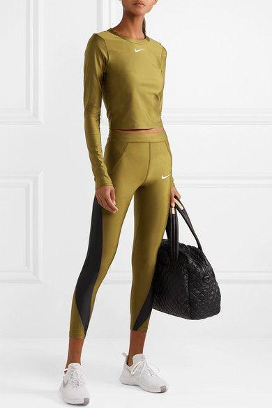 1daca94bdf1c4 Nike   Speed cropped paneled metallic Dri-FIT stretch leggings    NET-A-PORTER.COM
