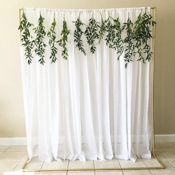 Tulle Backdrop Curtains Wedding Backdrop Bridal Shower