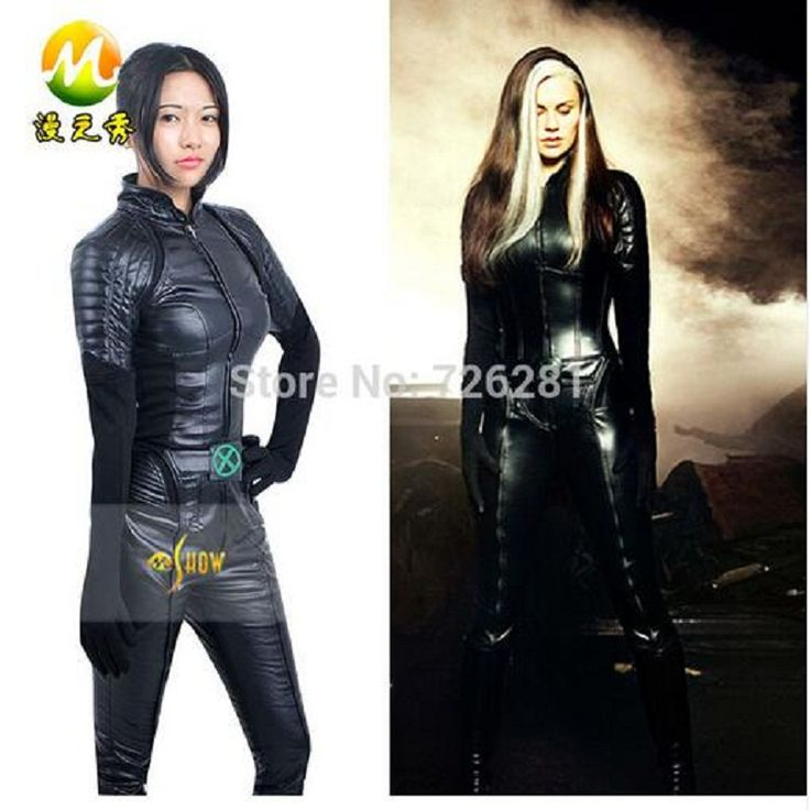 X-Men Cosplay Rogue Marie D'Ancanto Cosplay Costumes Women Lady Sexy Tights Jumpsuits Halloween Party Carnival Apparel