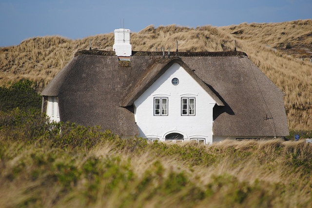Sylt - Typical house in the village of Kampen