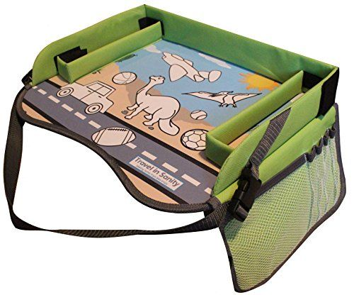 Kids Play Tray - Free Bag - Perfect Activity Tray or Car Seat Tray - Kids Travel Trays are an Ideal Organizer Tray, Lap Desk or Snack Tray - A Road Trip Essential - Green - By Travel in Sanity. For price & product info go to: https://all4babies.co.business/kids-play-tray-free-bag-perfect-activity-tray-or-car-seat-tray-kids-travel-trays-are-an-ideal-organizer-tray-lap-desk-or-snack-tray-a-road-trip-essential-green-by-travel-in-sanity/