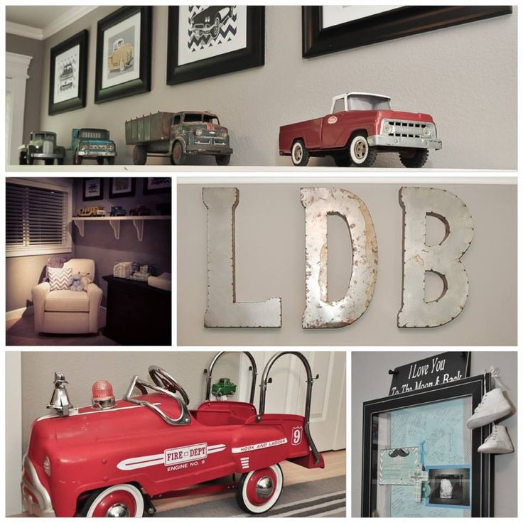 Vintage car truck nursery nursery ideas pinterest for Car room ideas