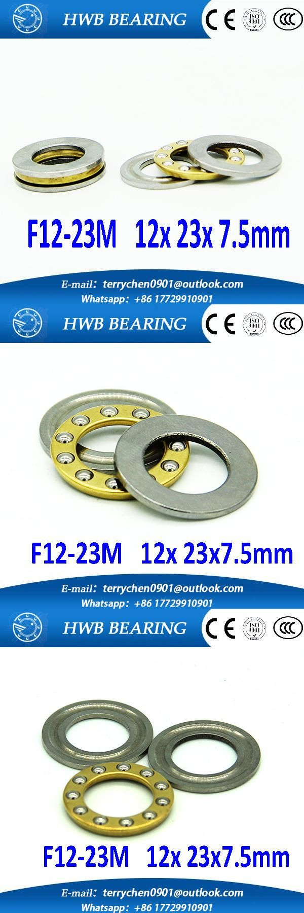 [Visit to Buy] Free shipping 10Pcs F12-23M Axial Ball Thrust Bearings 12 x 23 x 7.5mm    Plane thrust ball bearings  for 12mm shaft 12*23*7.5mm #Advertisement