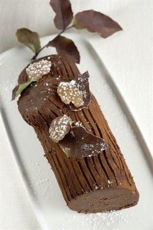 Bûche aux marrons - Larousse Cuisine