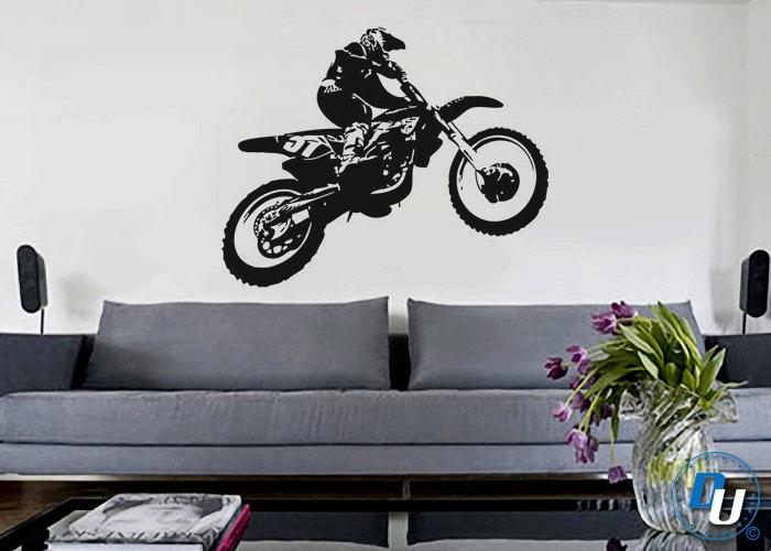 motocross removable vinyl wall decal art decor sticker